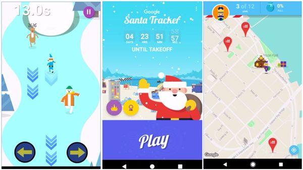Google「聖誕老人追蹤器」_合成圖/翻攝自Google Play