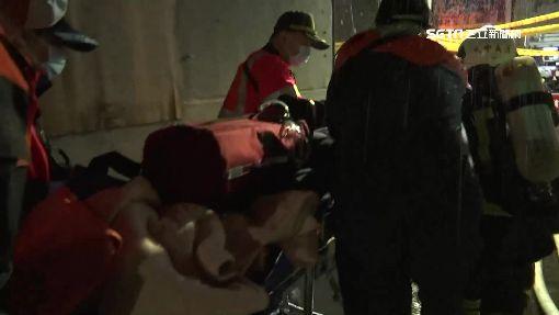 萬華深夜傳火警 86歲老婦昏迷送醫