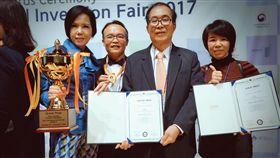 (業配)蘿琳亞塑身衣今年以新增之專利再次參加2017年韓國首爾國際發明展,榮獲金牌獎與大會最高榮譽特別獎。(圖/蘿琳亞塑身衣提供)