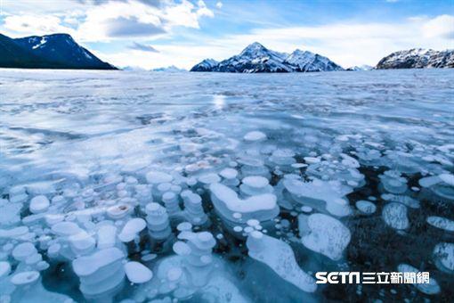 氣泡湖,亞伯拉罕湖,加拿大旅遊。(圖/翻攝自網路)