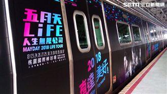 五月天彩繪列車 票根送限量紋身貼紙