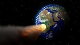 小行星,地球 圖/翻攝自Pixabay