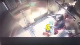 中國大陸,保母,虐童,電梯,監視器(YouTube)