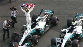 F1史上第五人Hamilton就任四屆世界冠軍(圖/車訊網提供)勿抓