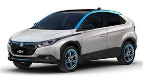 Luxgen U5 EV+多了象徵電動車的藍色線條。(圖/Luxgen提供)