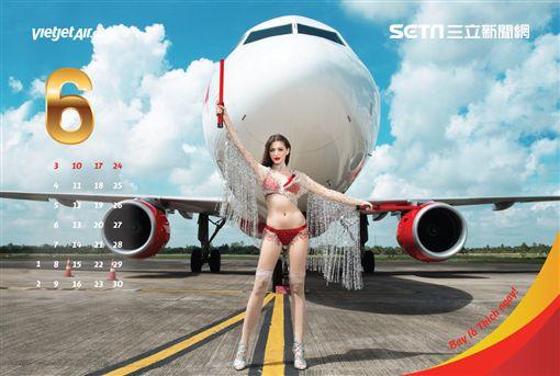 越捷航空,比基尼,月曆,拍攝,越捷,比基尼月曆,2018,空姐