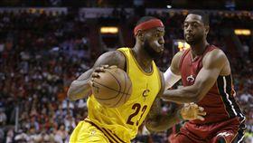 LeBron James與Dwyane Wade(ap)