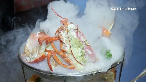 「焗龍蝦、炸蟹、烤蝦」三層 火焰海鮮塔瘋打卡