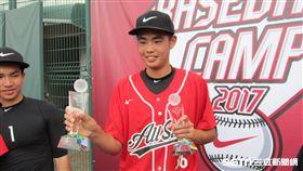▲北科附工16歲投手陳柏毓獲選NIKE訓練營MVP。(圖/記者蕭保祥攝)