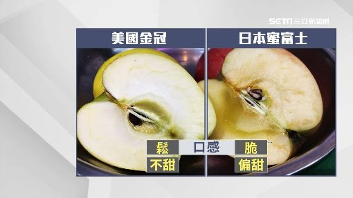 壞了嗎?! 蘋果肉顏色深淺不一 原來是蜜蘋果