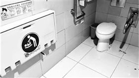 機場,大陸,北京,哺乳,餵奶,男廁,廁所 圖/翻攝自微博