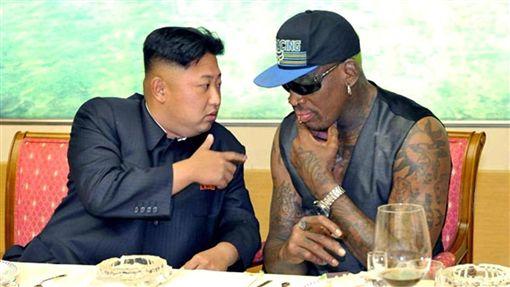 金正恩,北韓領導人,Dennis Rodman,NBA球星(圖/翻攝自推特)