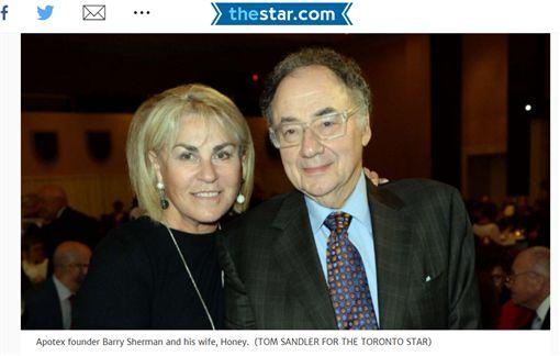 加拿大Apotex藥廠的創辦人席爾曼Barry Sherman 圖/翻攝自《Toronto Star》