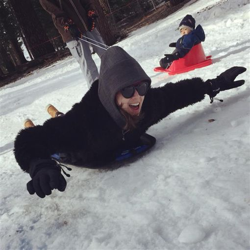 隋棠、Max、Lucy、Tony、滑雪/隋棠臉書