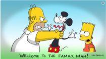 辛普森預測迪士尼收購福斯(圖/翻攝自推特)