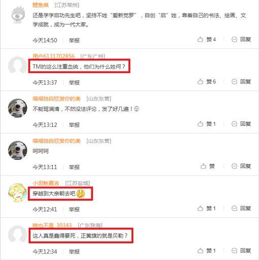 何守正,大陸網友嗆正黃旗,翻攝自新浪娛樂
