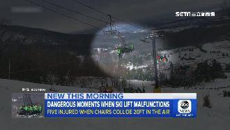 滑雪纜車撞1200