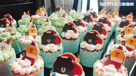 LINE FRIENDS,杯子蛋糕,熊大,兔兔,莎莉,跨年,聖誕