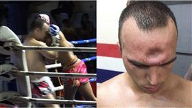 泰拳,肘擊,額頭,Patong stadium,泰國 圖/翻攝自臉書