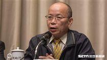 行政院政務委員張景森出席「排除企業投資障礙五缺之缺地」記者會 圖/記者林敬旻攝