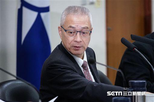 國民黨黨主席吳敦義召開中常會。 圖/記者林敬旻攝