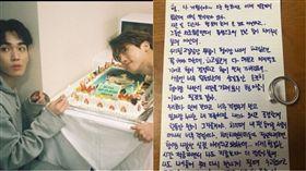 ▲KEY IG更新給鐘鉉的信。(圖/翻攝自KEY IG)