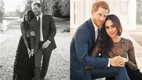 英國,哈利王子,王妃,梅根馬克爾,訂婚,婚紗,婚戒(圖/翻攝自推特@KensingtonRoyal)https://twitter.com/KensingtonRoyal