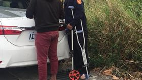 嘉義,暖警,拐杖.車禍.水上