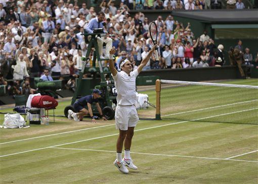 Roger Federer奪溫網冠軍(ap)