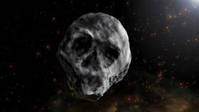 16:9 太空怪客再訪地球  骷顱小行星外形嚇人 2015 TB145 圖/翻攝自Twitter