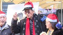 傅達仁東區唱平安歌/記者周家緯攝影
