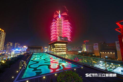 台北101跨年煙火,寒舍艾麗酒店,客房。(圖/寒舍艾麗提供)