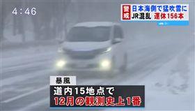 北海道,暴風雪(圖/翻攝北海道ニュースUHB YouTube)