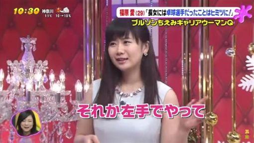 福原愛接受日本節目專訪(圖/翻攝自YouTube)