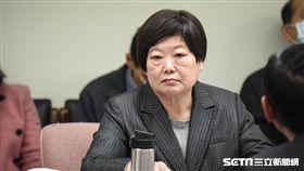 勞動部長林美珠於衛生及環境委員會備詢。 圖/記者林敬旻攝