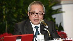 行政院副院長施俊吉召開2017年終記者會。 圖/記者林敬旻攝