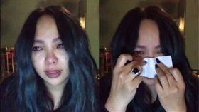 ▲阿妹開直播疑似想到離世的二姐爆哭。(圖/翻攝自張惠妹 A-mei/A-mit臉書)