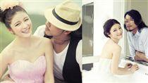 群交趴「色淫師」曾下海當模特兒 攜陳泱瑾拍婚紗照 臉書