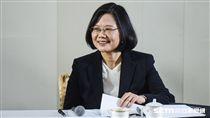 總統蔡英文2017年終媒體茶敘。 圖/記者林敬旻攝