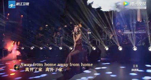 Angelababy,楊穎,2018,跨年,浙江衛視(圖/翻攝自騰訊視頻)