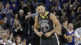 ▲「柯神」Curry復出戰就投中10顆3分,奪得38分。(圖/美聯社/達志影像)