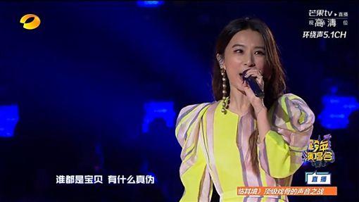 Hebe田馥甄 登湖南衛視跨年2018/翻攝自芒果tv