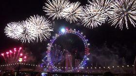 倫敦跨年煙火秀