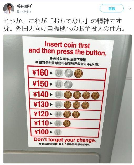 日貼心「硬幣對照表」 被酸:把外國人當白痴推特