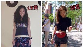 ▲KIMIKO老師在臉書分享18歲舊照。(圖/翻攝自KIMIKO臉書)