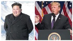 川普、金正恩,合成圖/翻攝自The White House YouTube、朝中社