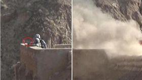 新兵在投擲手榴彈時意外脫手,班長3秒內成功救人。(圖/翻攝頭條日報)