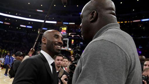 Shaquille O'Neal與Kobe Bryant(ap)