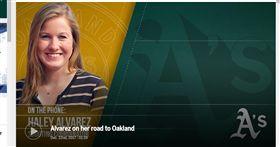 ▲Haley Alvarez將成為奧克蘭運動家首位女性球探。(圖/截自大聯盟官網)
