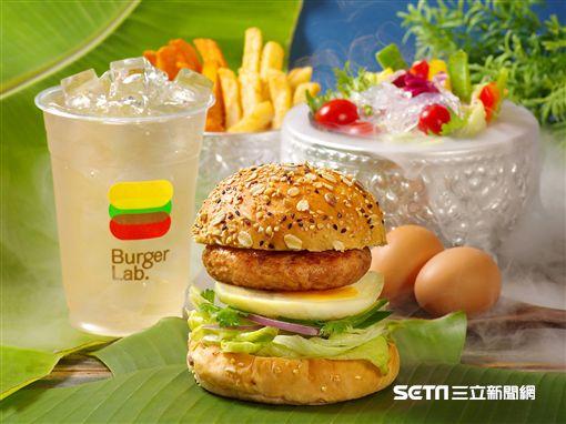 泰式女婿蛋豬肉堡。(圖/Burger Lab漢堡研究室提供)